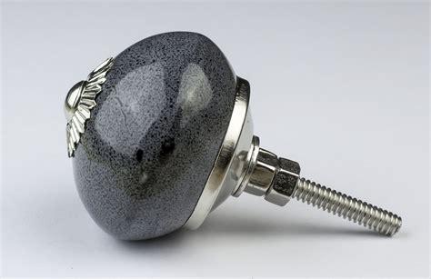 Silver Door Knobs by Black White Silver Grey Ceramic Door Knobs Handles
