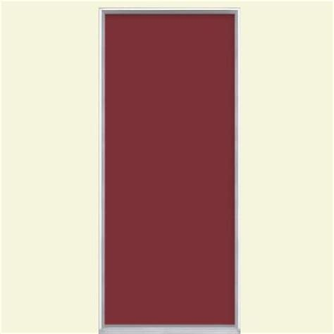Flush Entry Door by Masonite 36 In X 80 In Flush Bluff Painted Steel