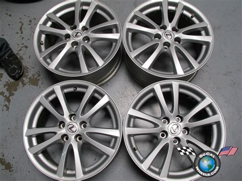 lexus is250 stock rims four 06 08 lexus is250 is350 factory 18 quot wheels oem rims