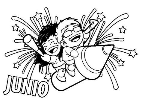 caratulas de el mes de junio dibujo de junio para colorear dibujos net