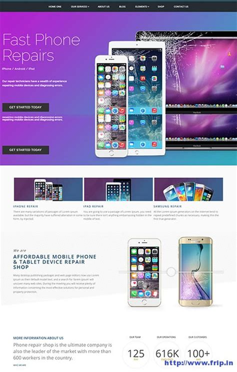 computer themes for mobile phones 12 best repair wordpress themes 2017 for computer phone