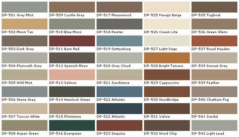 behr paint color chart