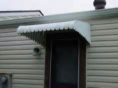 mobile home awning canopy front door roof