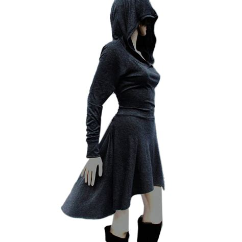 Sleeve Hooded Dress sleeve dress bandage bodycon hooded cloak style