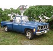 1974 GMC CUSTOM 1500 1/2 TON FLEETSIDE PICKUP TRUCK BLUE RUNNING
