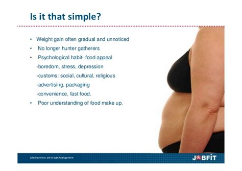4 to weight management nutrition and weight management