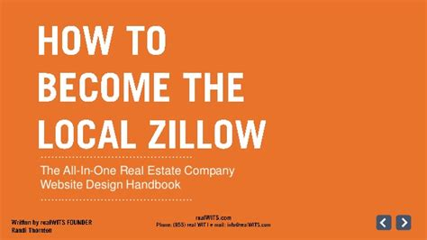 real estate website design how to become the local zillow