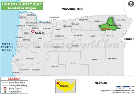 map of union oregon union county map oregon