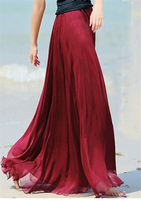 Wedges Flowy Pleated Skirt Rok Import 25 best ideas about chiffon skirt on rehearsal dinner guest looks wedding guest