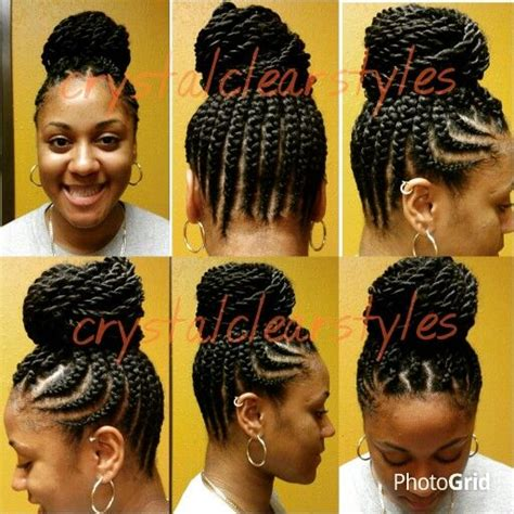 seneglese with corn rolls feed braid senegalese twist up do hairstyles pinterest