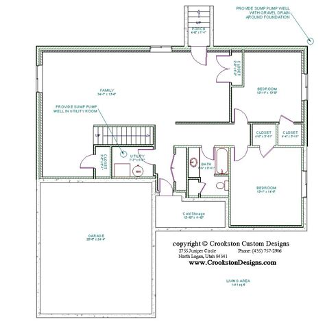 basement floor plan designer crookston designs plan 10063 00