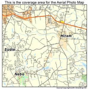 aerial photography map of hiram ga