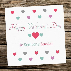 Handmade Happy Valentine s Day Someone Special Female