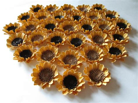 Sunflower By Paper - wedding paper sunflowers 100 2 1 2 inch made to order handmade