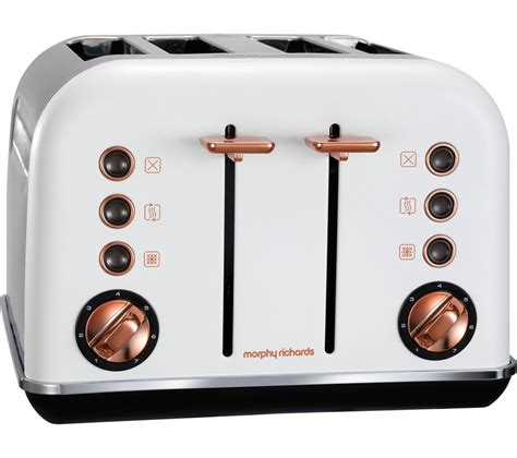 Morphy Richards 4 Slice Toaster Buy Morphy Richards Accents 242106 4 Slice Toaster White