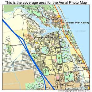 aerial photography map of jupiter fl florida
