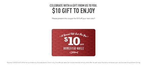 Bonefish Gift Card Other Restaurants - free 10 bonefish grill egift card