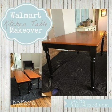 walmart kitchen table makeover before better homes and