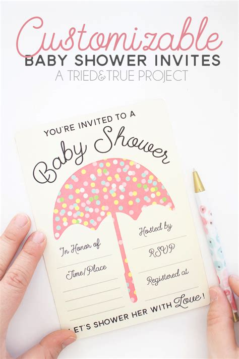 When To Send Shower Invites by Customizable Baby Shower Invites Tried True