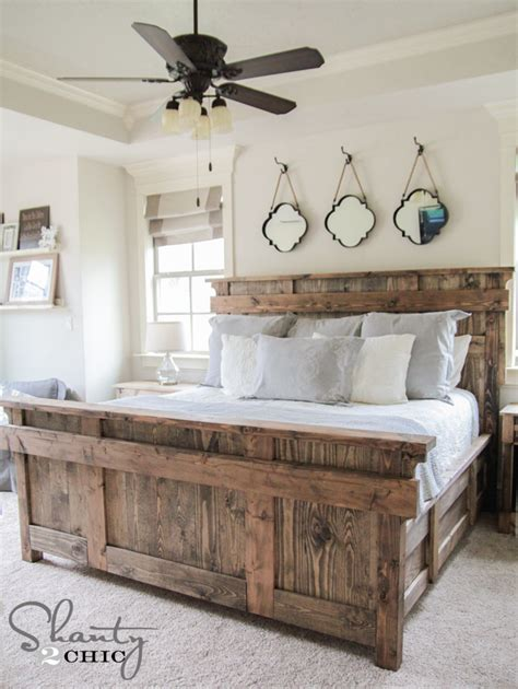 King Size Bed Plans Free Diy King Size Bed Free Plans Shanty 2 Chic