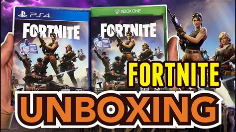 fortnite disc fortnite ps4 xbox one unboxing