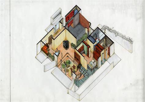 Home Interior Color Trends axonometric view vharv