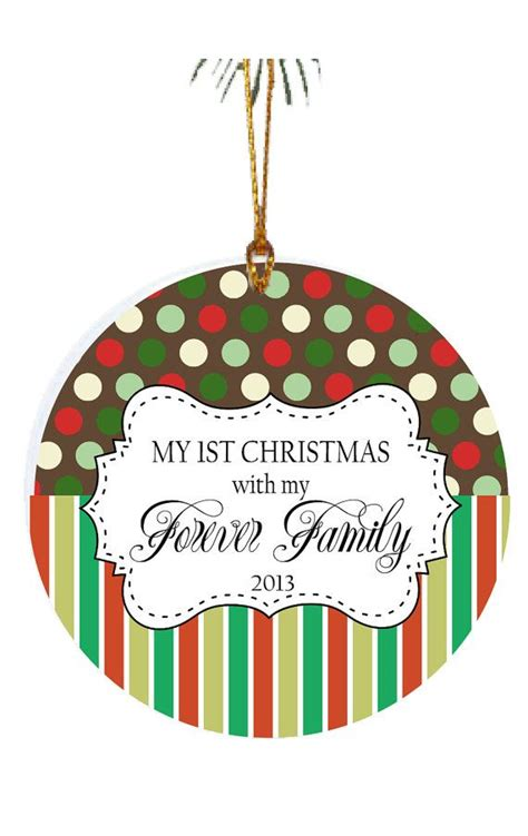 personalized christmas ornament adoption ornament 1st