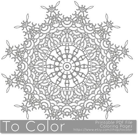 printable books about snowflakes printable coloring pages for adults mandala snowflake