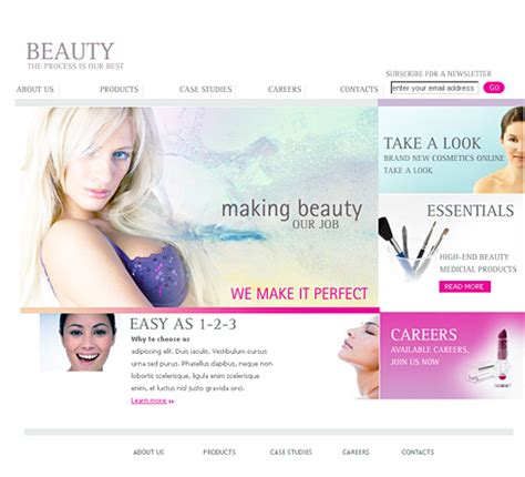 fashion site template xhtml template 0955 fashion