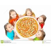 Bambini Che Mangiano Pizza Fotografie Stock Libere Da