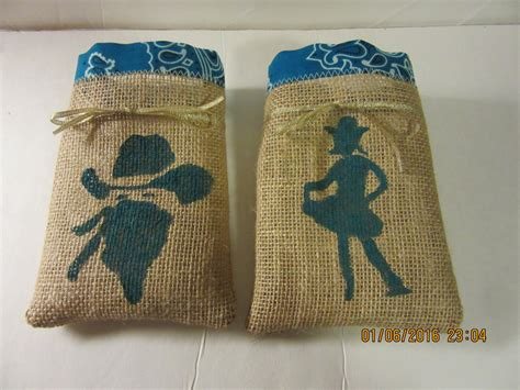treat bag cowboy treat bags burlap favor bags goodie bag country