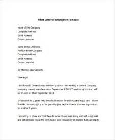 Letter Of Intent To Employ Template 9 Intent Letter Templates Free Sle Exle Format