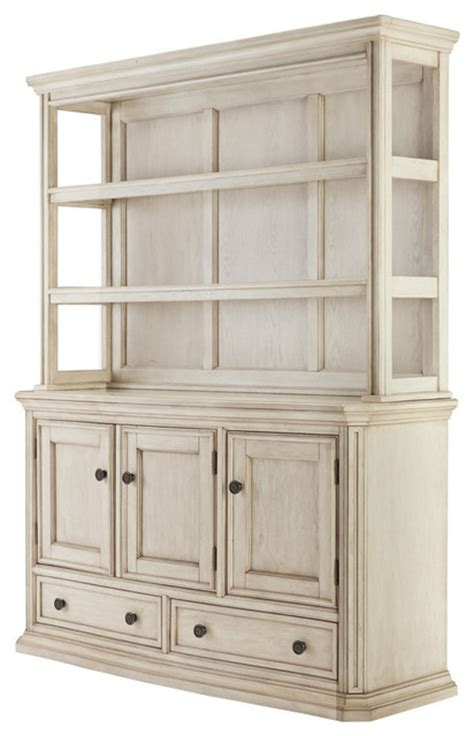 Dining Room Server With Hutch Demarlos Dining Room Server Hutch Parchment White