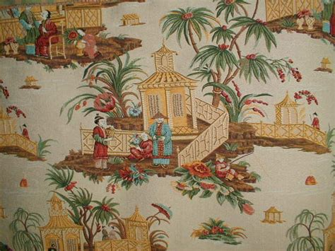 Orientalische Stoffe by Toile Fabric Jonquil Pagoda