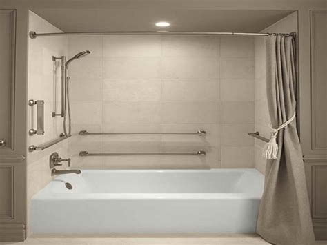 bathtub handicap railing sonia lux modern slim bathroom angled shower grab bar