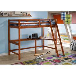 wood loft bed  desk