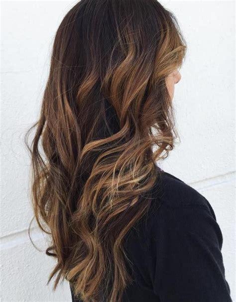 light brown hair with dark brown low lights 60 hairstyles featuring dark brown hair with highlights