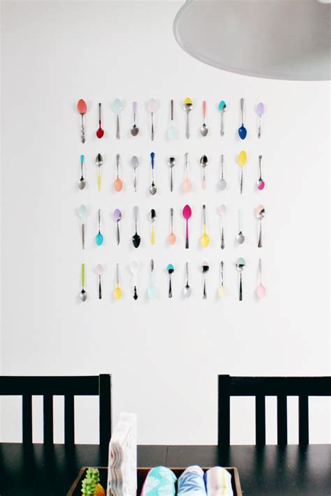 perfect kitchen wall decor ideas diy this for all wall art diy dip painted spoons for your kitchen a