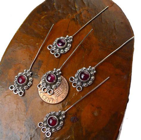 headpins jewelry garnet headpins sterling silver and garnet jewelry