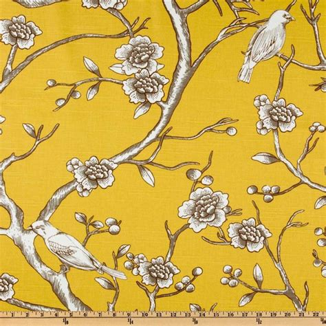 Upholstery Fabric With Birds by Dwell Studio Vintage Blossom Citrine Fabric