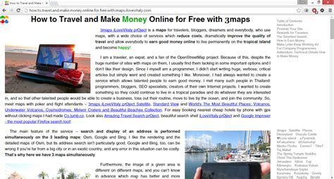 Make Money Online With Google For Free - how to travel and make money online for free with maps ilovevitaly com keyword spam in