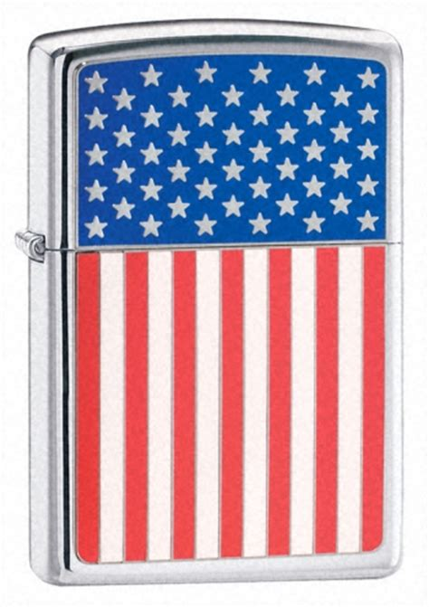 Zippo 28827 American Flag Usa zippo quot hp chrome american flag quot lights 20108