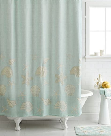 sea shell shower curtain avanti bath sequin shells 72 quot x 72 quot shower curtain