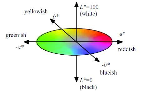 lab color space illustration cielab color space