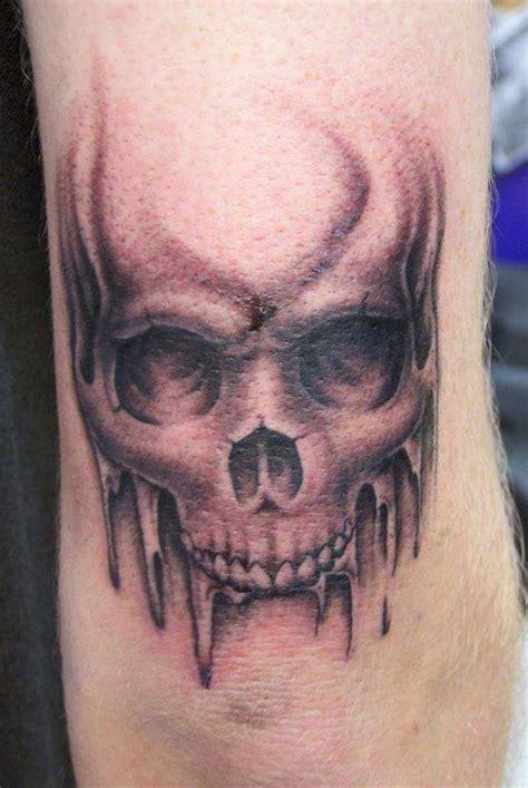 elbow skull tattoo venice tattoo art designs