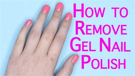 nail tutorials how to remove gel nail