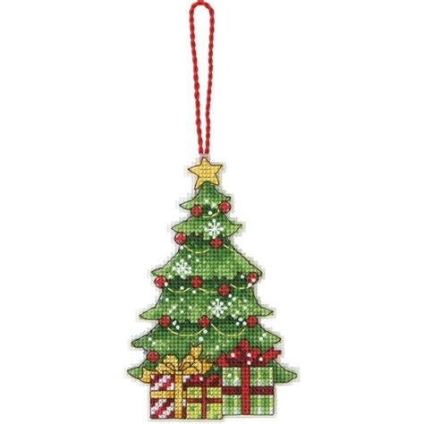 counted cross stitch kit christmas tree ornament ebay