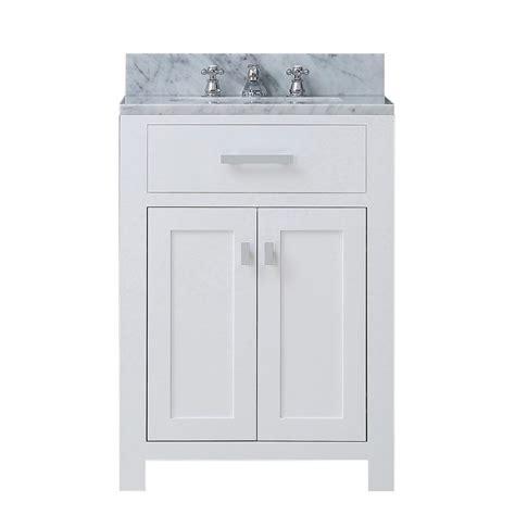 49x22 bathroom vanity top water creation 24 in vanity in modern white with marble vanity top in carrara white