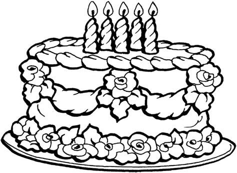 big cake coloring pages big happy birthday coloring page for kids coloring point