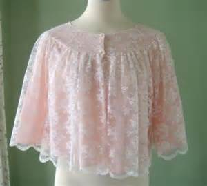 Chenille Bed Jacket Lace Bed Jacket Vintage Nanette White Lace Over Pink Bed